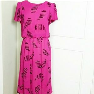 Vintage 80s Cora's Closet Hot Pink Dress